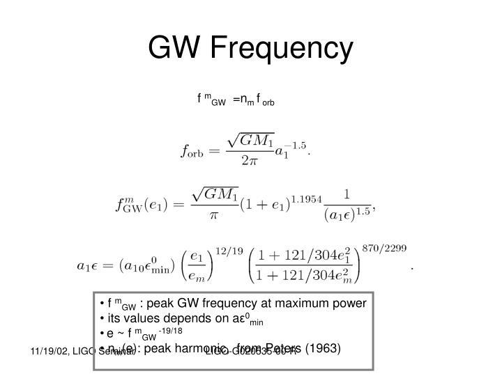 GW Frequency