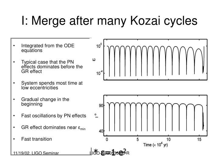 I: Merge after many Kozai cycles