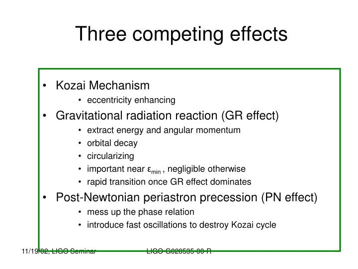 Three competing effects