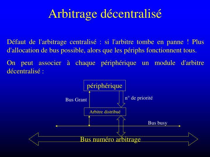 Arbitrage décentralisé