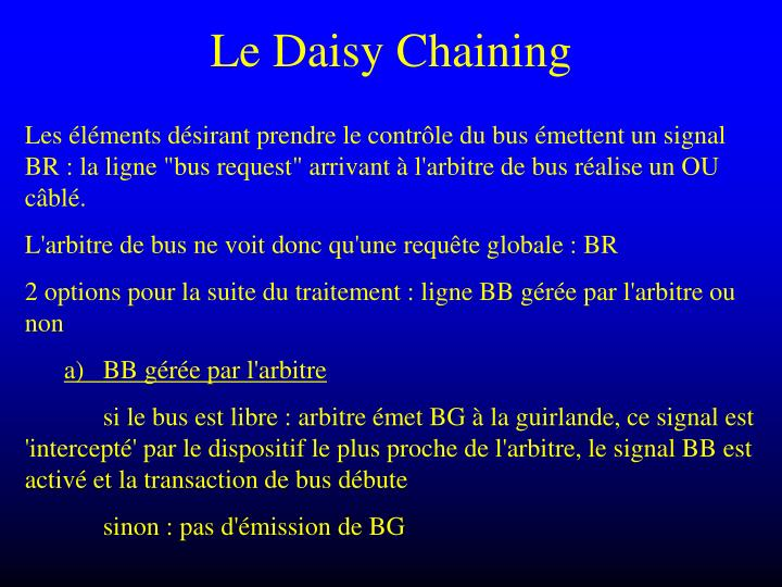 Le Daisy Chaining