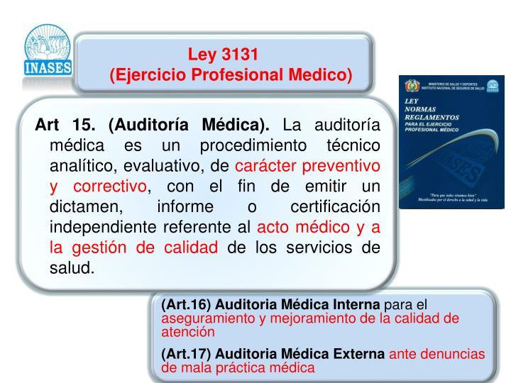 Ley 3131