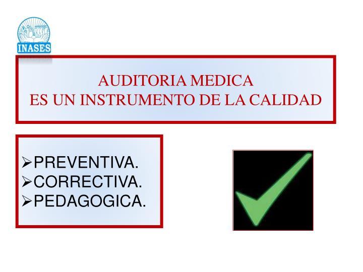AUDITORIA MEDICA