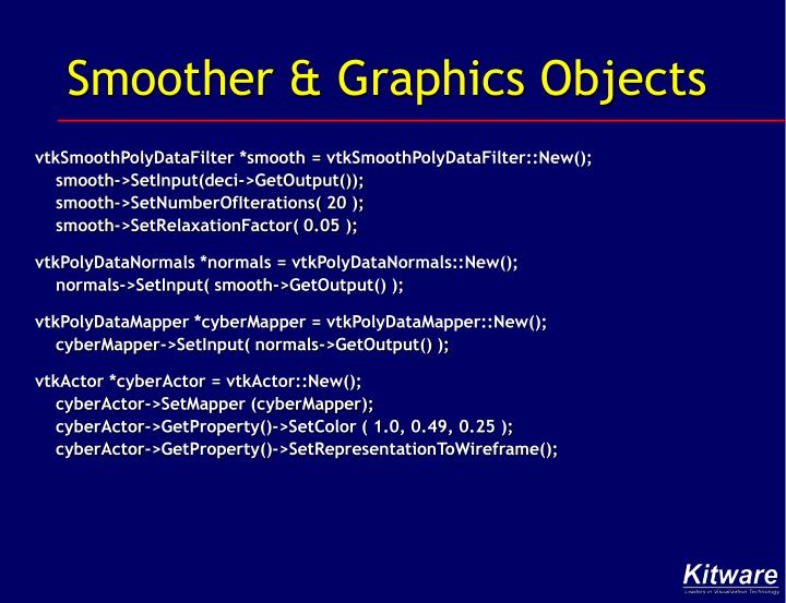 Smoother & Graphics Objects