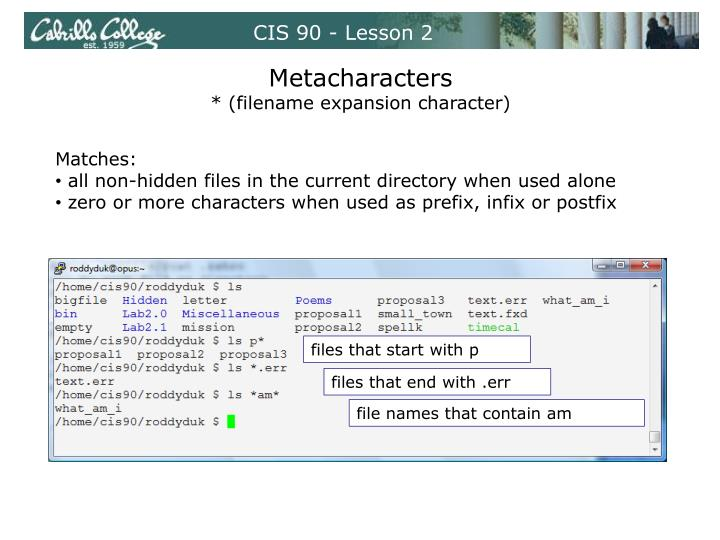 CIS 90 - Lesson 2