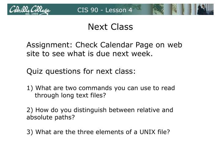 CIS 90 - Lesson 4