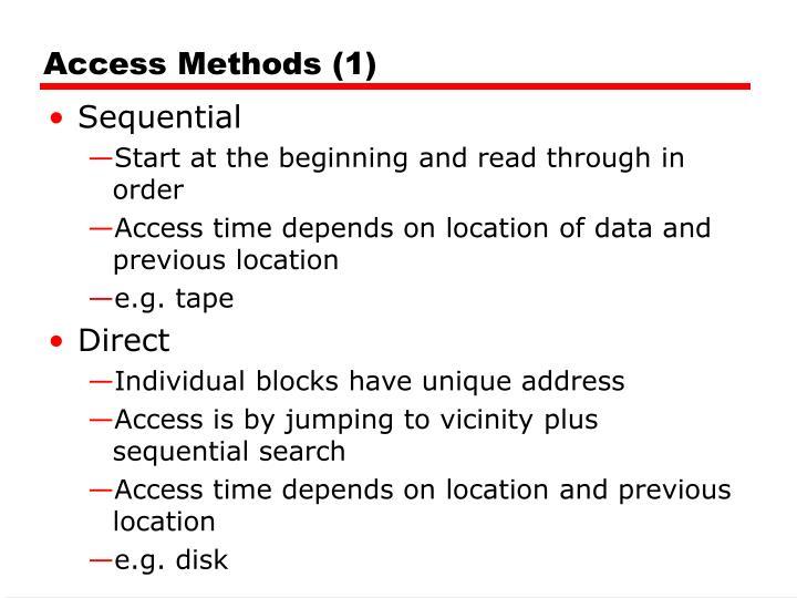 Access Methods (1)