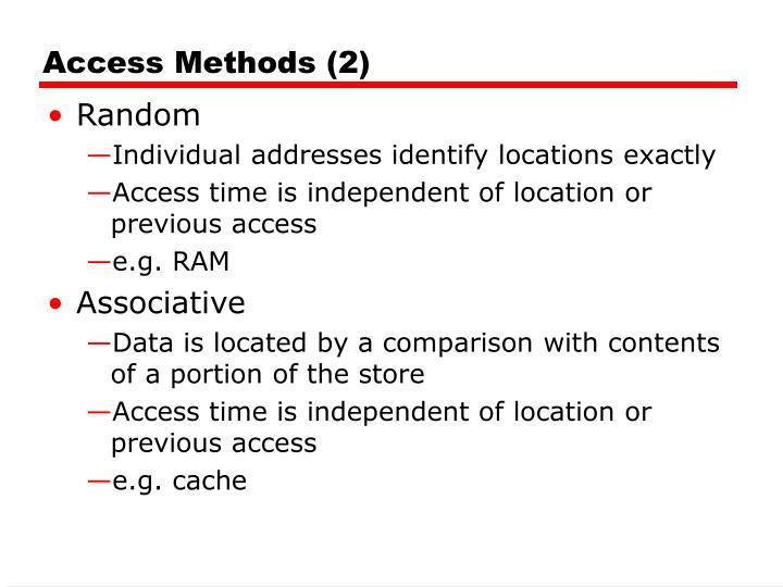 Access Methods (2)