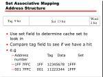 set associative mapping address structure