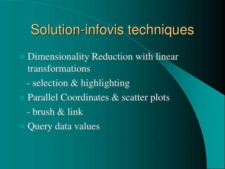 Solution-infovis techniques