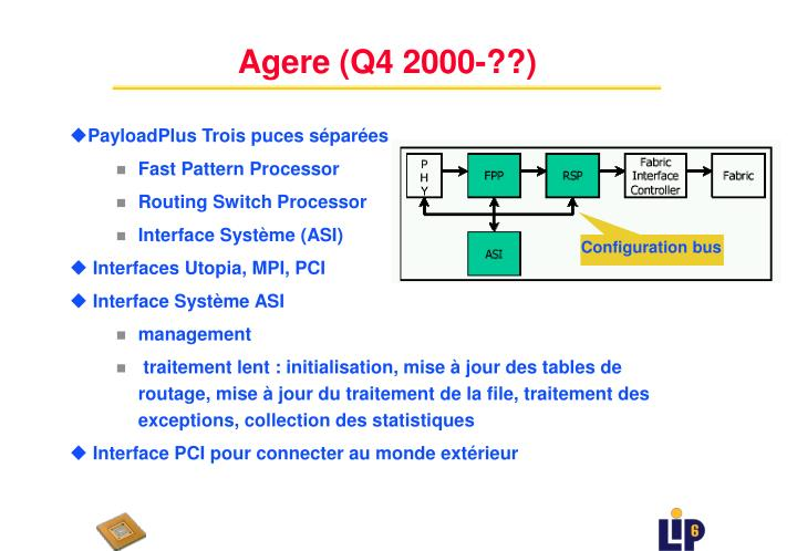 Agere (Q4 2000-??)