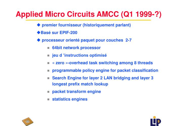 Applied Micro Circuits AMCC (Q1 1999-?)
