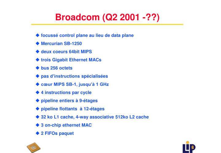Broadcom (Q2 2001 -??)