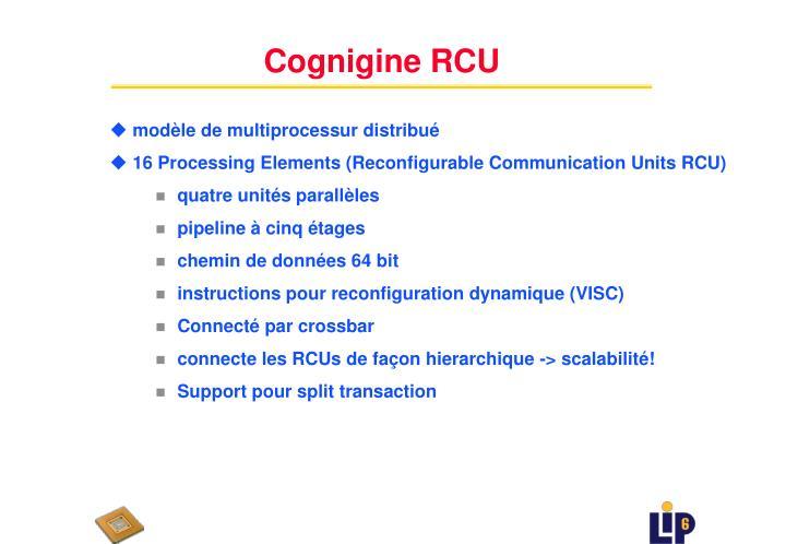Cognigine RCU