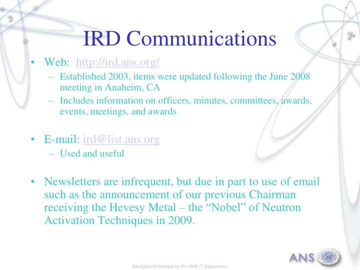 IRD Communications