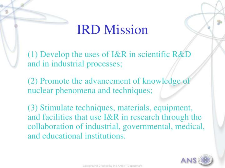 IRD Mission