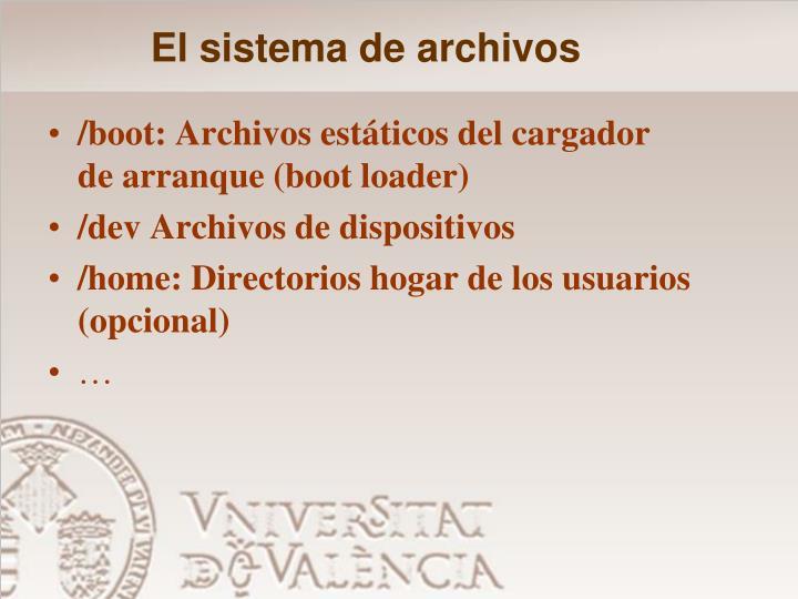El sistema de archivos