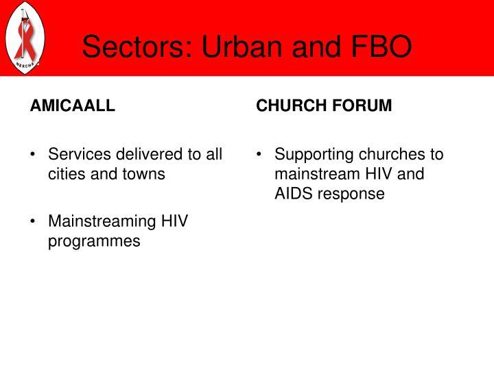 Sectors: Urban and FBO