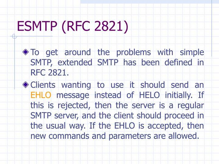 ESMTP (RFC 2821)