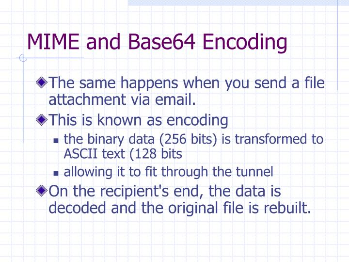 MIME and Base64 Encoding