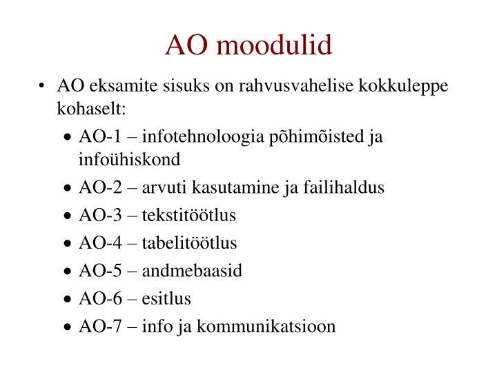 AO moodulid