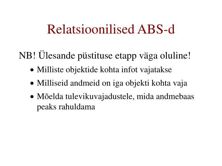 Relatsioonilised ABS-d