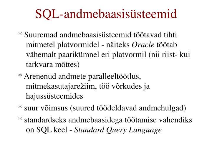 SQL-andmebaasisüsteemid