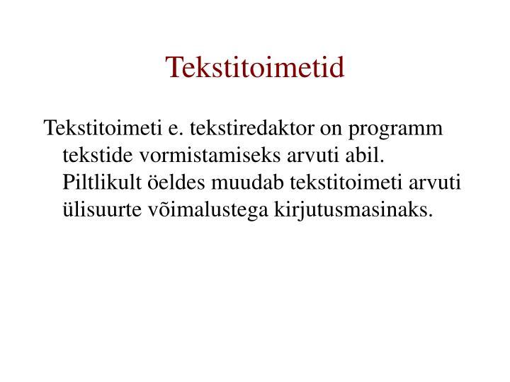 Tekstitoimetid