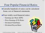 four popular financial ratios