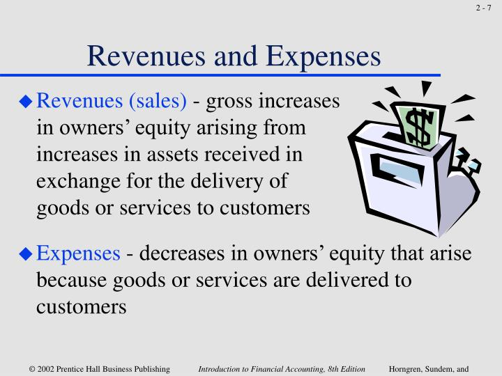 Revenues and Expenses