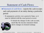 statement of cash flows1