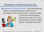 statement of retained income