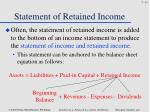statement of retained income2