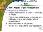 ad hoc wg5 and wg6 on abs2