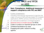 ad hoc wg5 and wg6 on abs6
