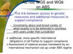 ad hoc wg5 and wg6 on abs7