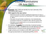 council conclusions 28 june 2007