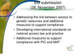 eu submission 28 november 2007