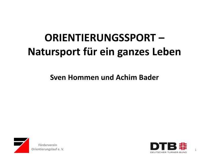 ORIENTIERUNGSSPORT –