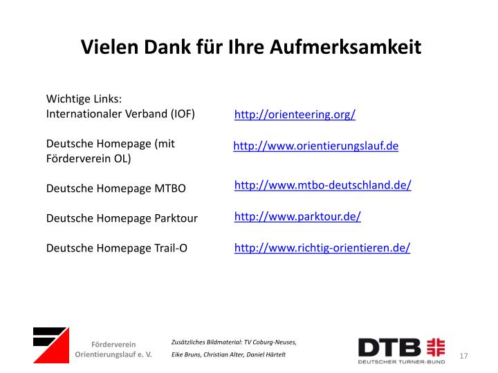 Wichtige Links: