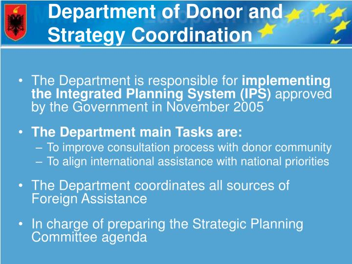 Department of Donor and Strategy Coordination