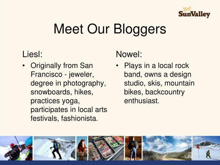 Meet Our Bloggers