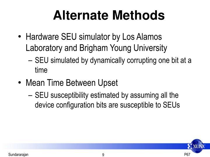 Alternate Methods