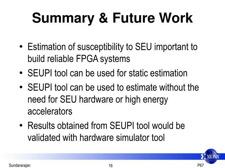 Summary & Future Work