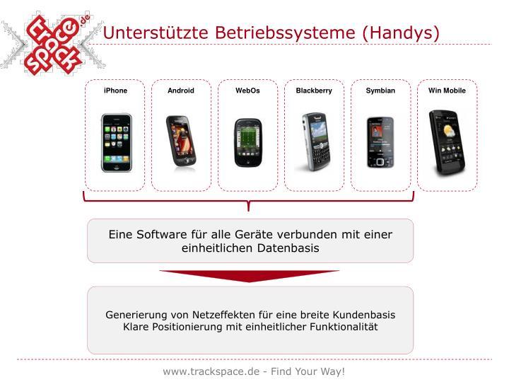 Unterstützte Betriebssysteme (Handys)