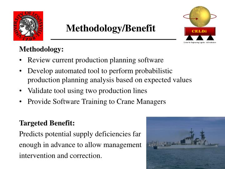 Methodology/Benefit