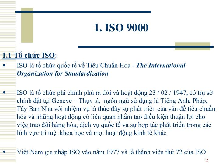 1. ISO 9000