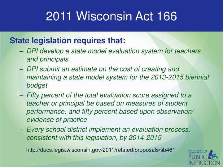 2011 Wisconsin Act 166