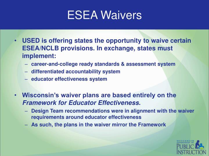 ESEA Waivers