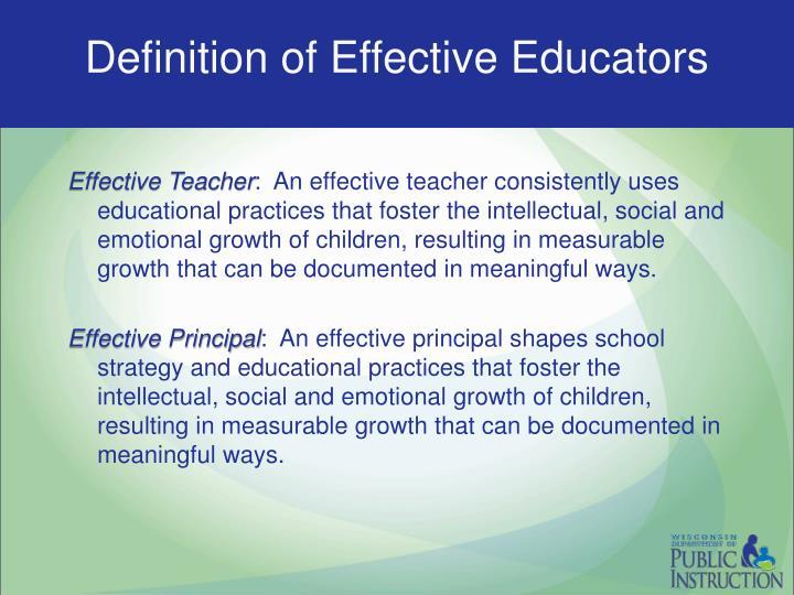 Definition of Effective Educators